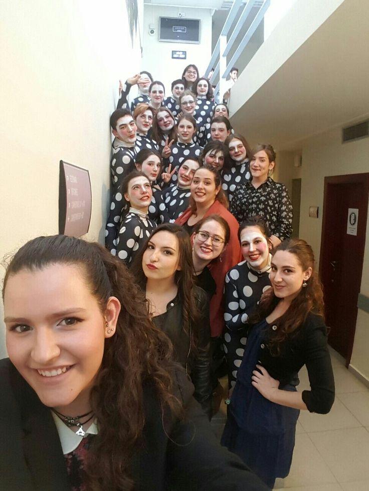 Practicas en el auditorio de Sant Cugat del Liceu.