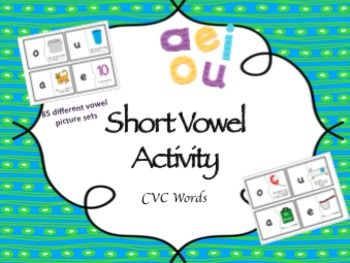 Fun short vowel matching game!