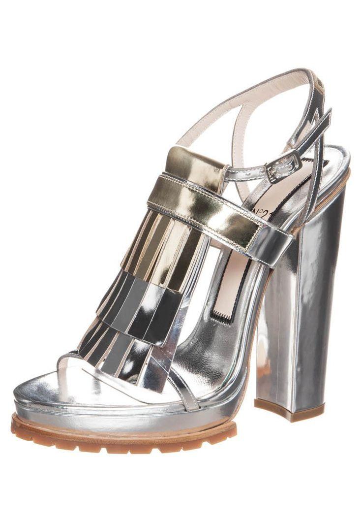 No 21 Silver Metallic Sandals at Zalando