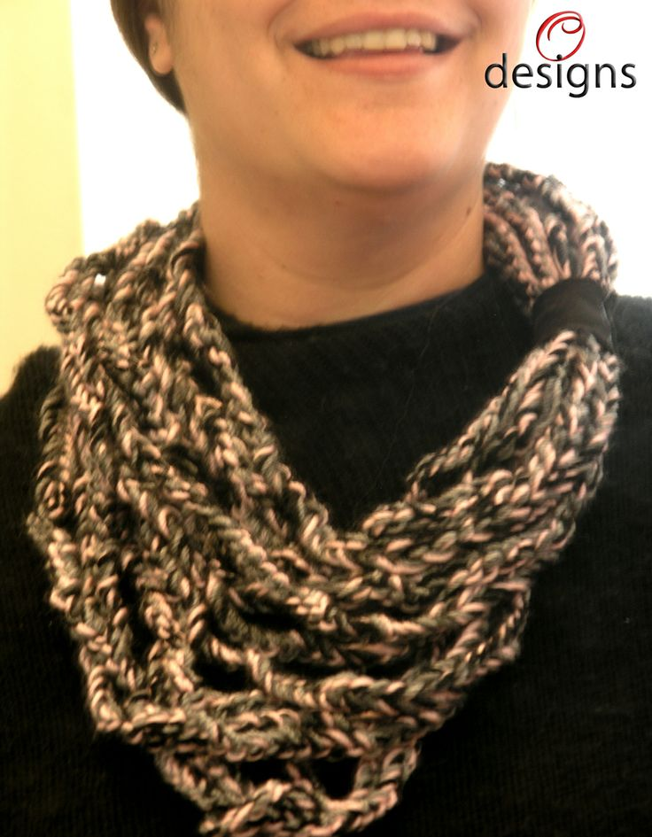 Handmade knitted scarf.