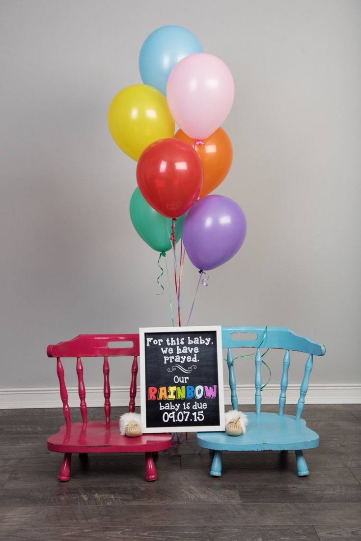 Rainbow Baby Announcement Baby after Miscarriage Chalkboard – Baby Announcement Party
