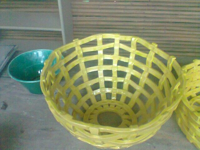 Wooven cone bowl