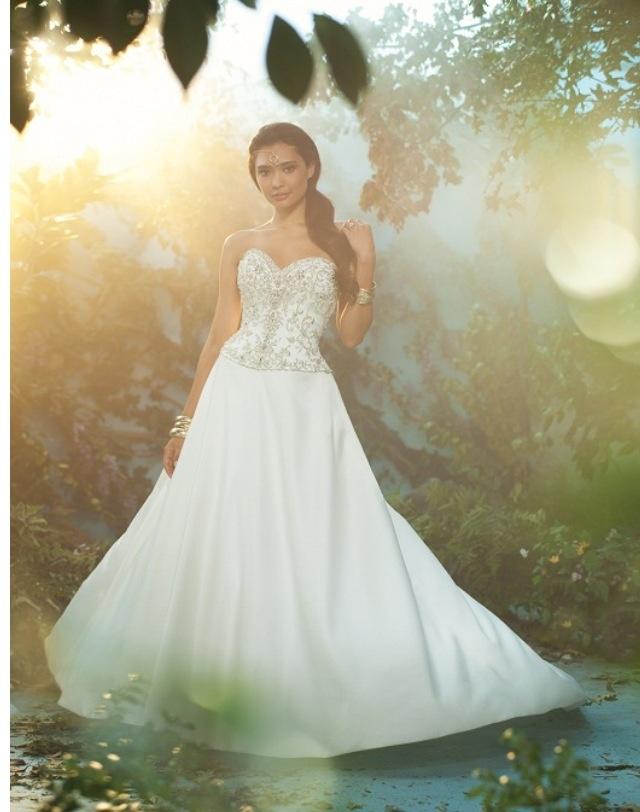 17 best images about disney wedding on pinterest disney for Jasmine wedding dress disney