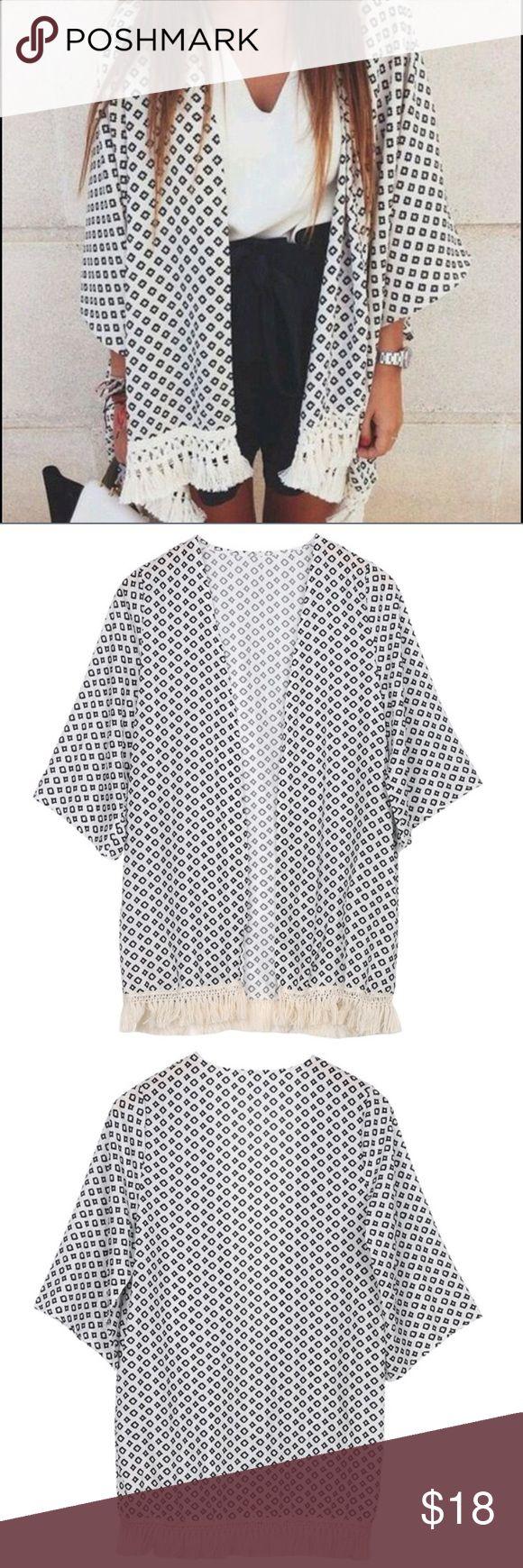 NWT Retro Boho Kimono Cardigan NWT Retro Boho Kimono Cardigan. Size M. Smoke and Pet Free Home. Bundle and Save! Tops