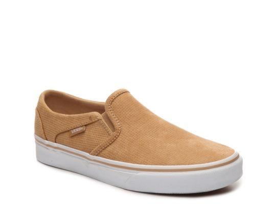 Women's Vans Asher Perforated Slip-On Sneaker -  - Tan