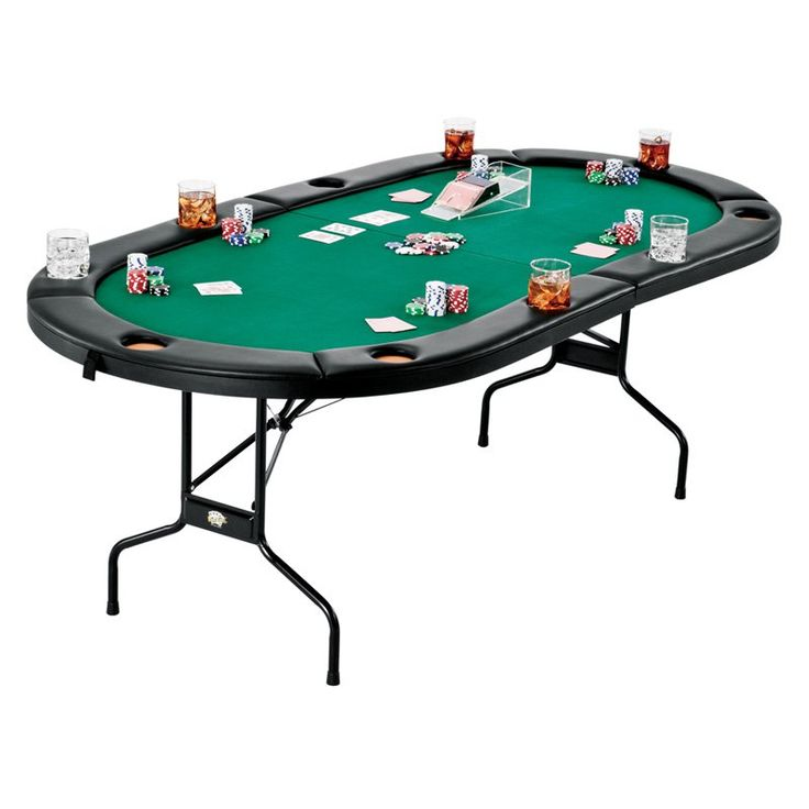 Fat Cat Folding Poker Table - What We Like About This Game Table The Folding Poker Table is the ultimate game table for all-night card games. Large enough to seat up to 10...