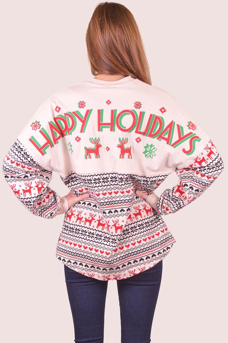 Happy Holidays Spirit Jersey on shopBelleBoutique.com #xoxoBelle