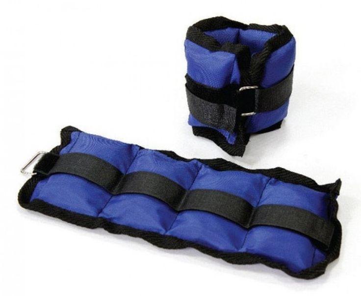 Pesas para Tobillo Comodas pesas ajustables para utilizar en los tobillos, peso 1 lb. cada una. muy utiles para ejecutar todo tipo de ejercicos.Color gris plomo y strap negro.