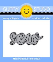 Sunny Studio Stamps: Introducing the Sew Word die (to coordinate with our Cute As A Button Sentiment stamps)