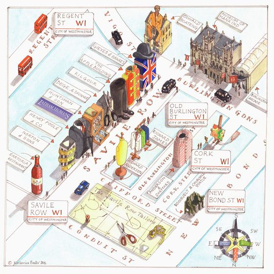 Katherine Baxter - Map of Savile Row
