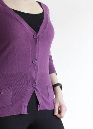 Kaufe meinen Artikel bei #Kleiderkreisel http://www.kleiderkreisel.de/damenmode/three-fourths-armlig/126297752-lila-strickjacke-mit-schleife-von-mister-lady