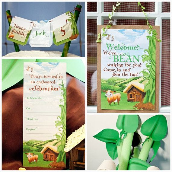 Jack and the Beanstalk Collection: Print at by PiggyBankParties