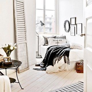 Personal Space #interiors #bedroom #bedroominspo #white #design #bedding #lighting #rustic #preppy #mix