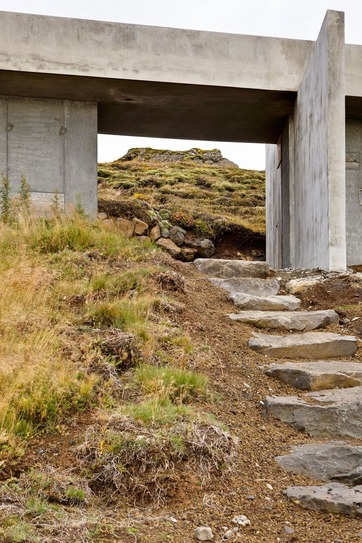 "The main focus in the design of the summerhouse was to create a careful and functional engagement with the dramatic and beautiful topography of the site.  Partly submerged in the steep terrain of Langitangi (""Long-Peninsula""), the elongated building's ..."