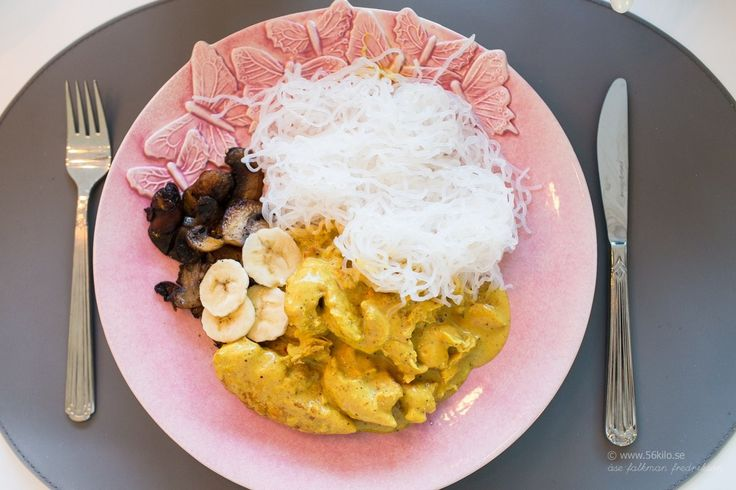 Kyckling i Currysås med Shirataki nudlar