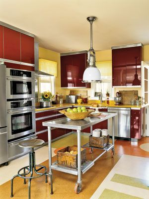 10 best bold contemporary decor images on pinterest for Sunflower kitchen ideas