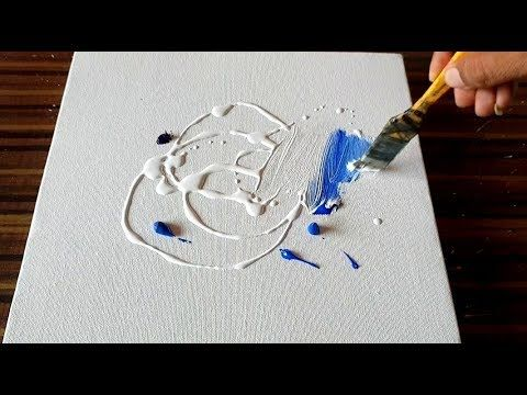 Demonstration of abstract acrylic painting from project 365 days / day # 088 Now you can purchase my first INSTRUCTIONS …