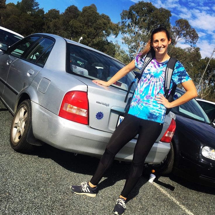 Check out this legend sporting matching tie dye with our awesome bumper sticker :)