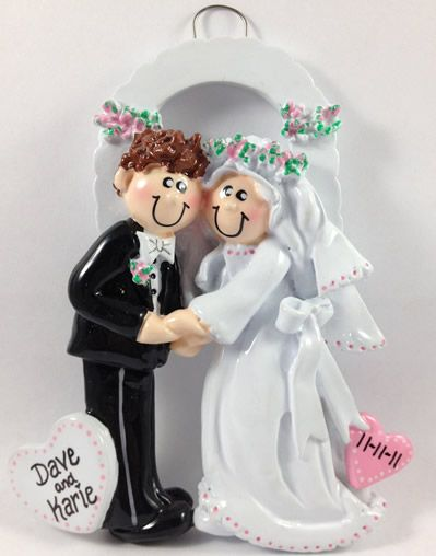 9 best images about Personalized Wedding Christmas Ornaments! on ...