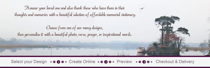 Memorial Cards Direct - Personalise Your Memorial Stationery