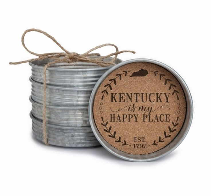 Kentucky is my Happy Place- Coaster Set