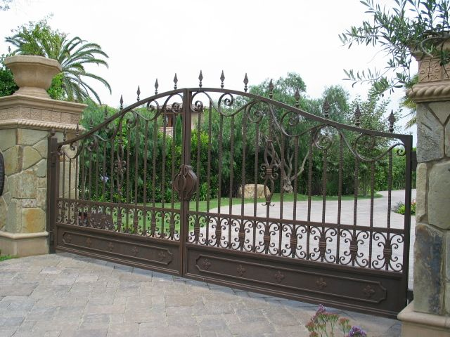 Wrought Iron Driveway Gates Mission Iron Gates San