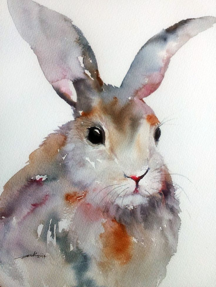 Arti Chauhan - A cute rabbit in grayish-pink tones and with a soft, velvety fur