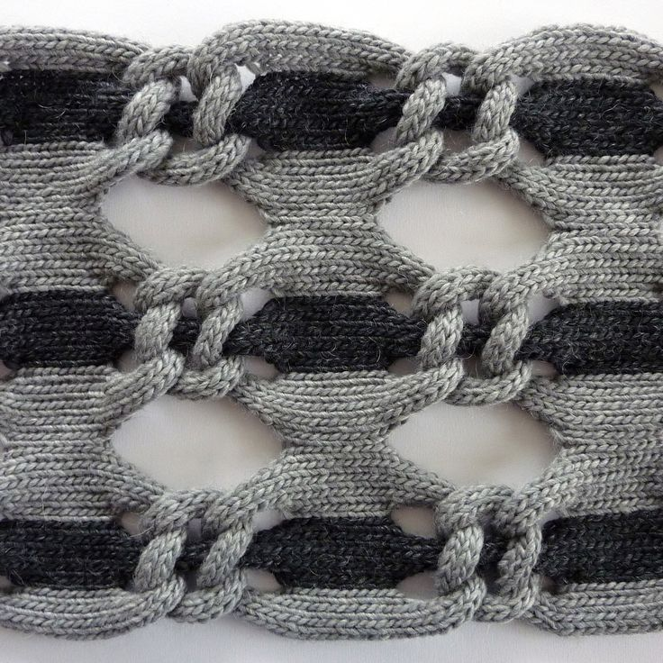 Structural knit design with two-tone linking pattern; knitted textiles for fashion // Cari + Carl