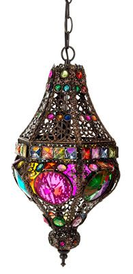Lighting - The Bottom Drawer Antique & Home Decor CentreMorroccan Hanging Light This stunning multicoloured Lamp comes complete with wiring and is ready to hang and measures 64cm x 22cm. A$ 125.00
