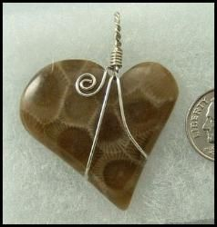 PETOSKEY STONE JEWELRY by Lana Qualey, a gal I went  to school with in Vicksburg.   Great Valentine's Day idea!