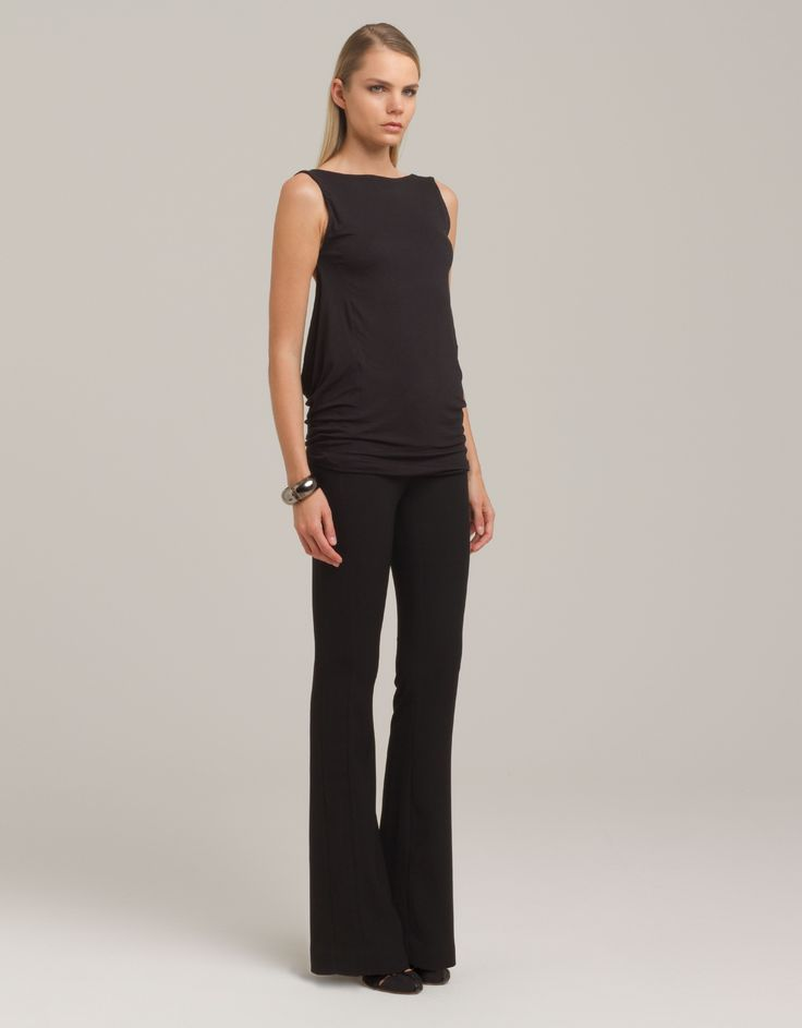 Backless top and two-tone pants by eMManuela for Maison Academia http://shop.maisonacademia.com/collections/spring-summer-2013/products/418-top