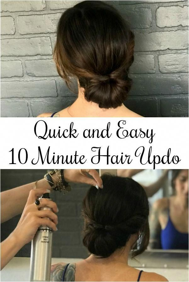 10 Minute Quick and Easy Hair Updo Tutorial
