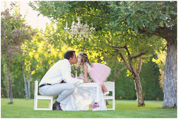 Daddy & daughter tea party! My sweet loves!