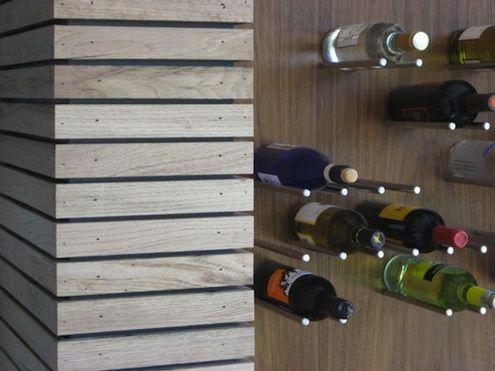 DIY wine rack display