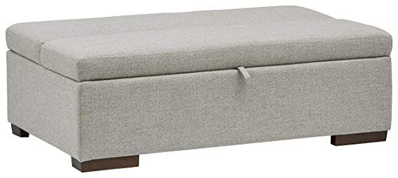 Enjoyable Amazon Com Rivet Fold Modern Ottoman Sofa Bed 48 W Light Camellatalisay Diy Chair Ideas Camellatalisaycom