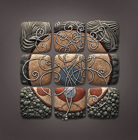 Ceramic wall panel chris gryder 469x476 tactile longing for Ceramic wall mural
