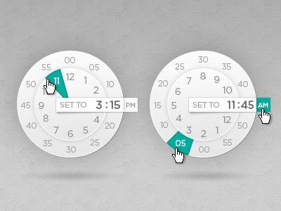 Circular timer.