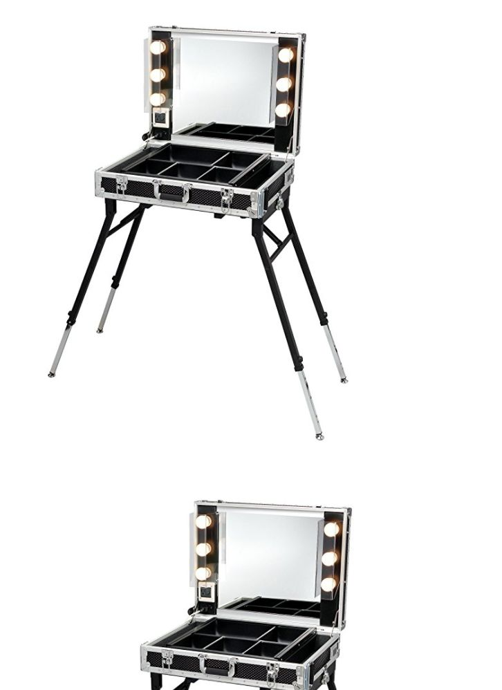 Rolling Makeup Cases: Studio Makeup Case Rolling Cosmetic Light Organizer Mirror W Artist Train Pro BUY IT NOW ONLY: $3119.99