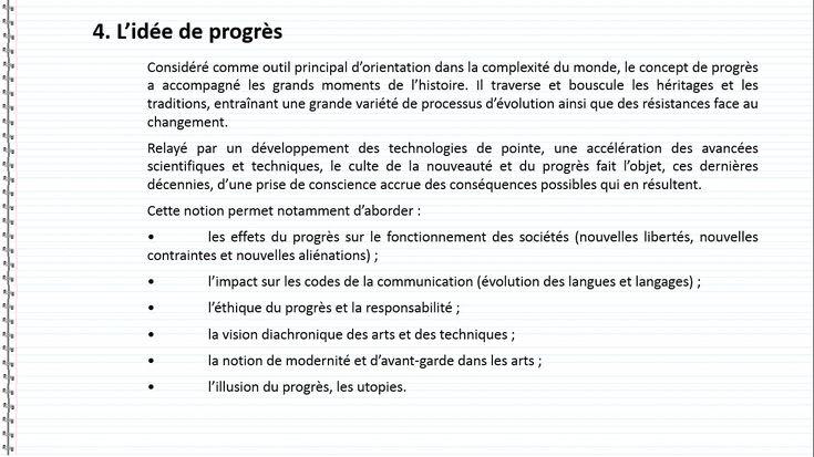 definition idee de progres espagnol