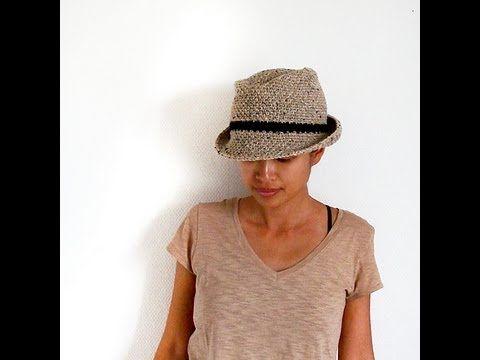 crochet a Fedora hat http://iknitspatterns.blogspot.com/2013/09/crochet-fedora-hat.html