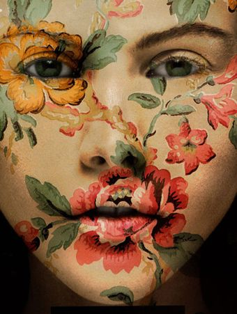 oohFlower Painting, Faceart, Painting Face, Makeup, Body Painting, Flower Power, Face Art, Face Painting, Painting Lady