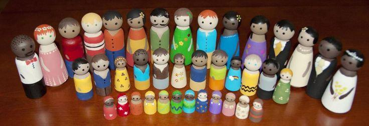 Detailed tutorial on painting peg dolls