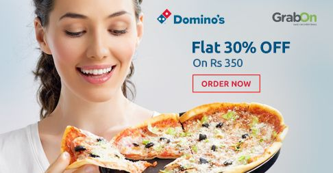 No Better Meal Than A Pizza Meal! #Dominos Offers Flat 30% OFF on Rs 350 http://www.grabon.in/dominos-coupons/ #SaveOnGrabOn