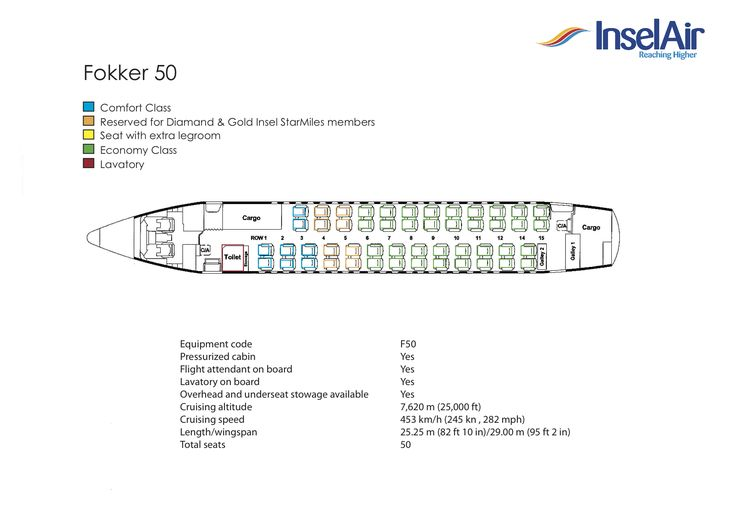 InselAir seating plans. For a detailed seatplan of our MD-80 aircraft (152 seats) click here. For a detailed seatplan of our Fokker 50 aircraft (50 seats) ...