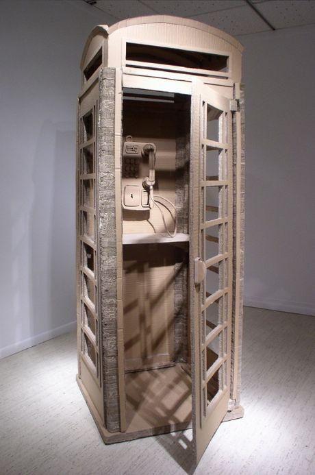 cabina de cartón
