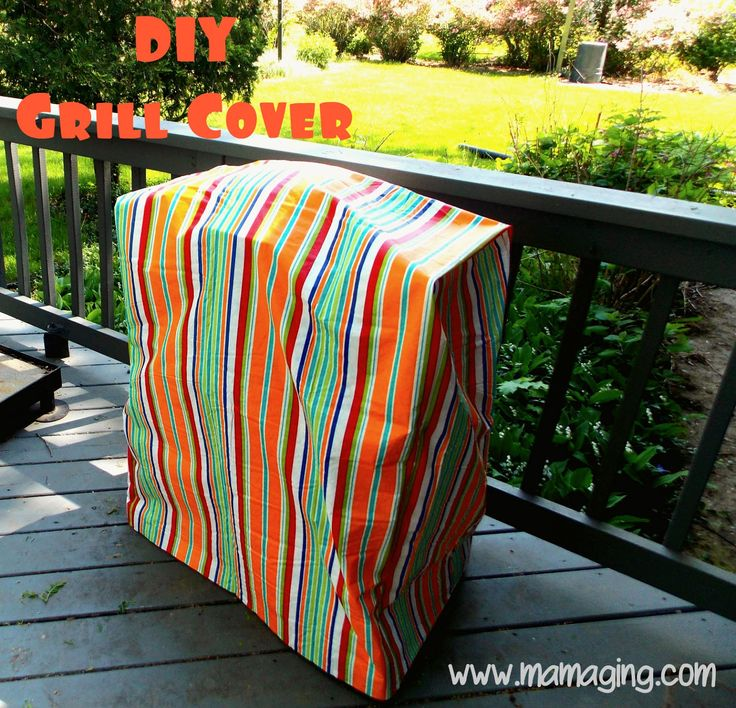 DIY BBQ Grill Cover... LOVE this... and it's made from vinyl tablecloths :)
