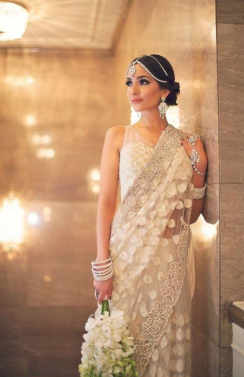 aka how to do a white sari | follow us on http://www.pinterest.com/proimagegroup