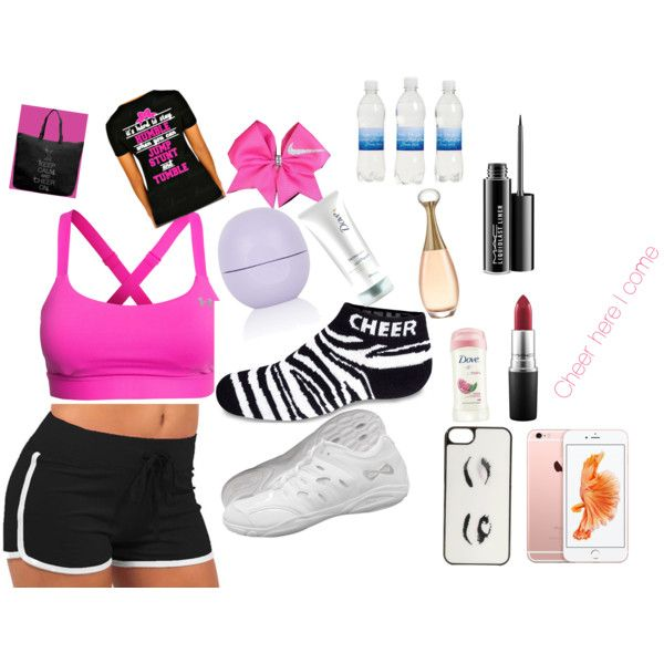 Want to wear to cheer for teens by treasurebailey on Polyvore featuring polyvore, interior, interiors, interior design, home, home decor, interior decorating, Under Armour, Chassè, Kate Spade, MAC Cosmetics, Topshop, Dove and NIKE