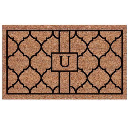 Momentum Mats Pantera Extra-thick Monogrammed Doormat (1'6 x 2'6), Black