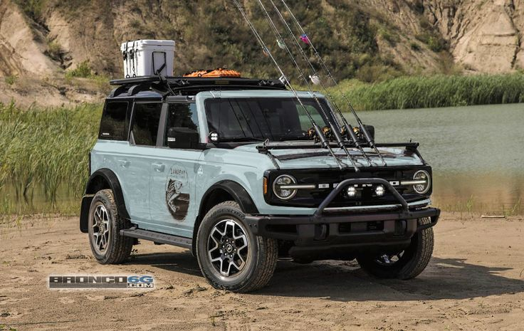 4 Door Bronco Colors Simulated on Outer Banks Fishing